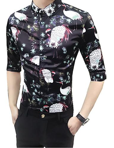 Koszula Męskie Moda miejska Klubowa Szczupła - Zwierzę