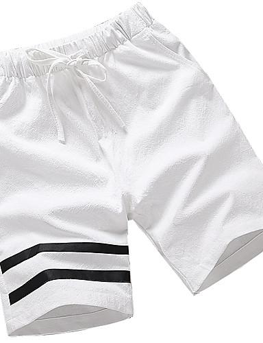 Męskie Sportowy Rozmiar plus Bawełna Szczupła Krótkie spodnie Typu Chino Spodnie Jendolity kolor Prążki