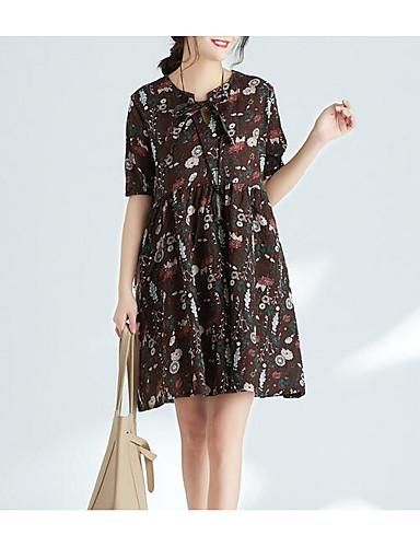Damskie Wyjściowe Moda miejska Linia A Sukienka - Geometric Shape Nad kolano
