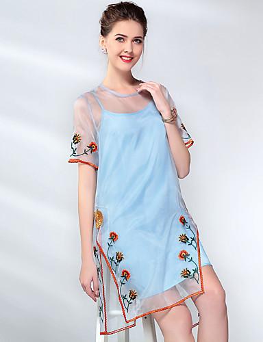 קפלים, אחיד - שמלה משוחרר בגדי ריקוד נשים