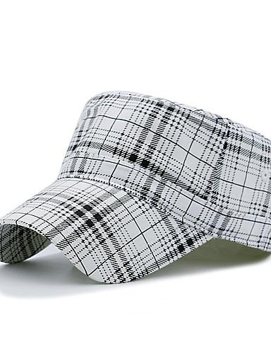 abordables Accessoires Femme-Unisexe Coton / Polyester Travail / Décontracté Beret / Casquette de Baseball / Chapeau de soleil Damier / Printemps / Eté