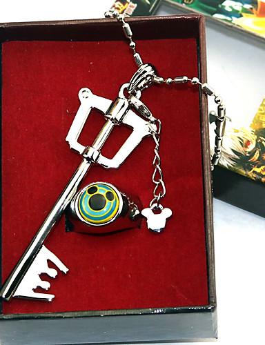 levne Cosplay a kostýmy-Více doplňků Inspirovaný Kingdom Hearts Sora Anime Cosplay Doplňky 1 x náhrdelník / 1 x prstýnek Chrome Halloweenské kostýmy
