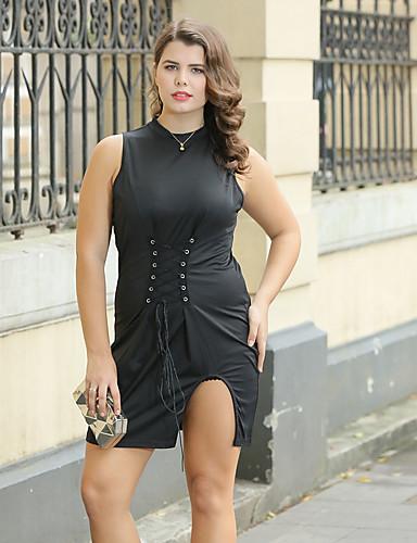 femme grandes tailles moulante gaine noir robe fendu. Black Bedroom Furniture Sets. Home Design Ideas