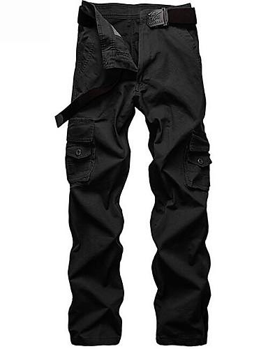 Męskie Moda miejska Typu Chino Spodnie Jendolity kolor