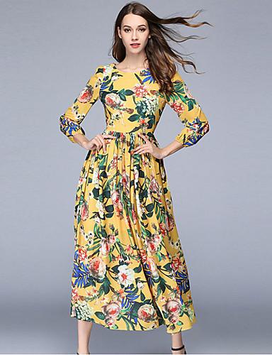 96e9ba862ddf Γυναικεία Καθημερινό Καθημερινά Σιφόν Μακρύ Φόρεμα