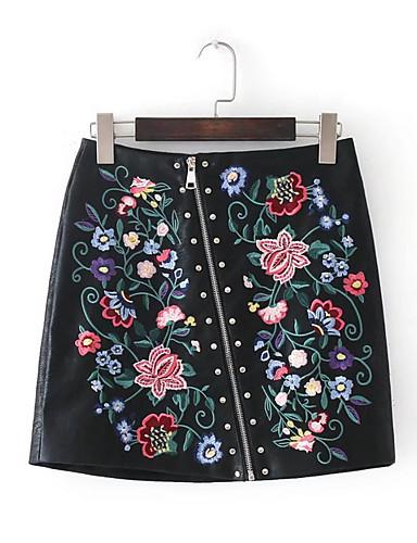 פרחוני - חצאיות גזרת A וינטאג' בגדי ריקוד נשים