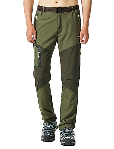 cheap Hiking Trousers & Shorts-Men's Hiking Pants Outdoor Fast Dry, Quick Dry, Breathability Spring, Fall, Winter, Summer Pants / Trousers, Convertible Pants, Bottoms Outdoor Exercise Multisport L XL
