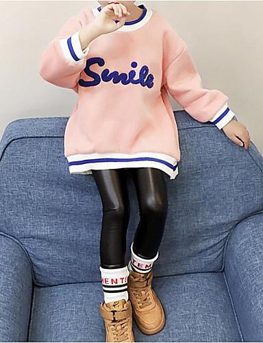 T-shirt Bawełna Poliester Dla dziewczynek Słowa i cytaty Zima Jesień Na co dzień Blushing Pink