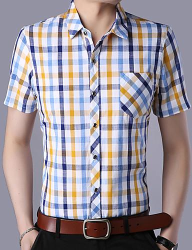 Koszula Męskie Biznes Jendolity kolor