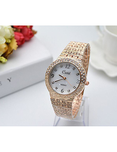 Mulheres Bracele Relógio Japanês Quartzo 30 m imitação de diamante Aço Inoxidável Banda Analógico Amuleto Prata / Dourada / Ouro Rose - Dourado Prata Ouro Rose Um ano Ciclo de Vida da Bateria