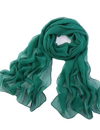 Χαμηλού Κόστους Women's Scarves-Γυναικεία Μονόχρωμο Πολυεστέρας / Σιφόν Δίχτυ - Ορθογώνιο