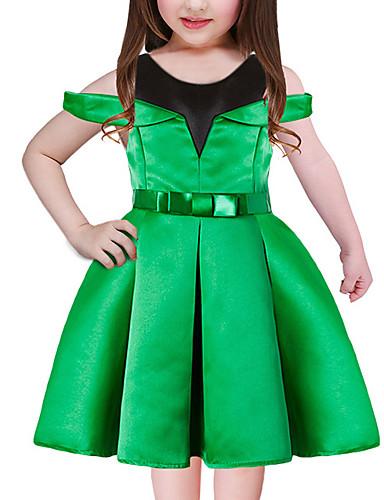 Dzieci Dla dziewczynek Urlop / Wyjściowe Patchwork Krótki rękaw Sukienka / Urocza / Księżniczka