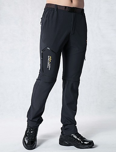 cheap Hiking Trousers & Shorts-Men's Solid Color Hiking Pants Convertible Pants / Zip Off Pants Outdoor Breathable Quick Dry Sweat-wicking Spring, Fall, Winter, Summer Pants / Trousers Convertible Pants Bottoms Hiking Outdoor