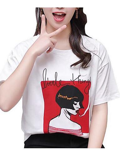 T-shirt Damskie Podstawowy, Nadruk Geometric Shape