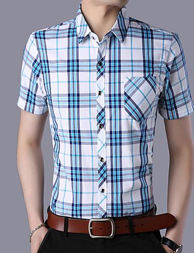 Koszula Męskie Podstawowy Kolorowy blok / Długi rękaw