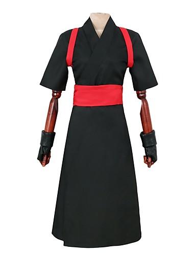 billige Cosplay og kostumer-Inspireret af Naruto Temari Anime Cosplay Kostumer Japansk Cosplay Kostumer Anden Kort Ærme Handsker / Bælte / Kimono Frakke Til Herre / Dame