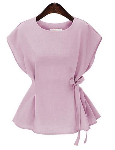Koszula Damskie Aktywny Wyjściowe Solidne kolory / Wiązanie