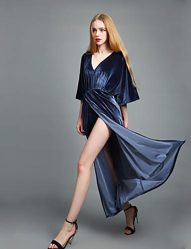 Damskie Wyrafinowany styl Moda miejska Latarnia rękawem Bodycon Pochwa Sukienka swingowa Sukienka - Jendolity kolor, Wycięcia Rozcięcie