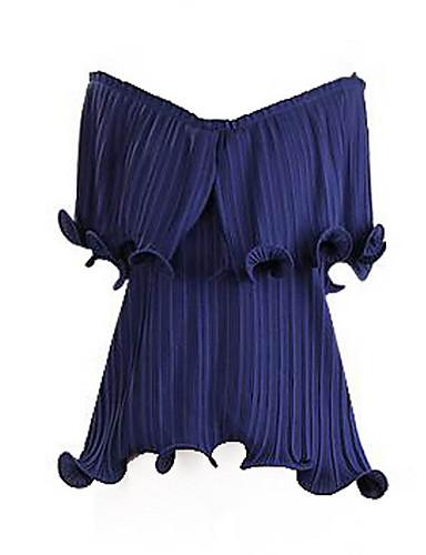 Bluzka Damskie Podstawowy Bez ramiączek Solidne kolory