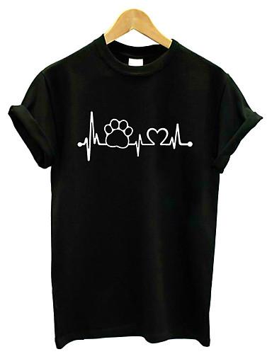 abordables Hauts pour Femme-Tee-shirt Femme, Géométrique Sortie Actif / Basique Blanche