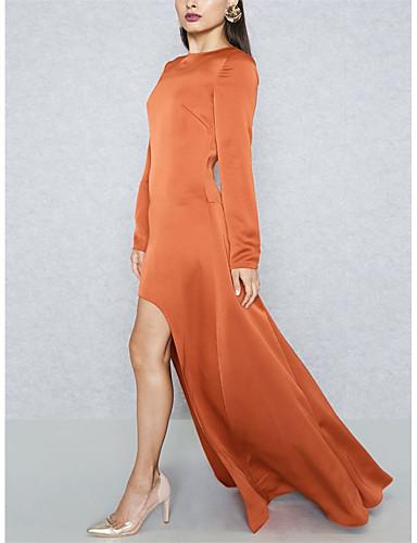 Damskie Wyrafinowany styl / Moda miejska Bodycon / Pochwa / Sukienka swingowa Sukienka - Jendolity kolor Maxi