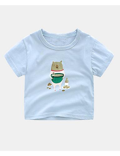 Dzieci Dla chłopców Jendolity kolor Krótki rękaw T-shirt