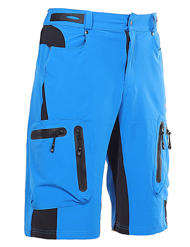 cheap Cycling Clothing-Arsuxeo Men's Cycling MTB Shorts - Dark Gray Royal Blue Dark Green Solid Color Bike Shorts MTB Shorts Breathable Quick Dry Waterproof Zipper Sports Polyester Spandex Solid Color Mountain Bike MTB