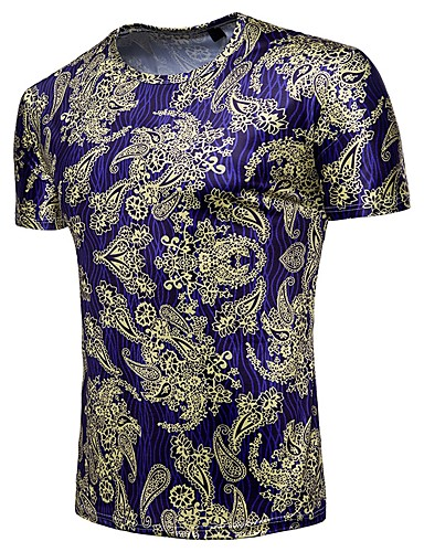 e2d9bb192f4b Ανδρικά T-shirt Βασικό Συνδυασμός Χρωμάτων   Λαχούρι Στάμπα 6711827 ...