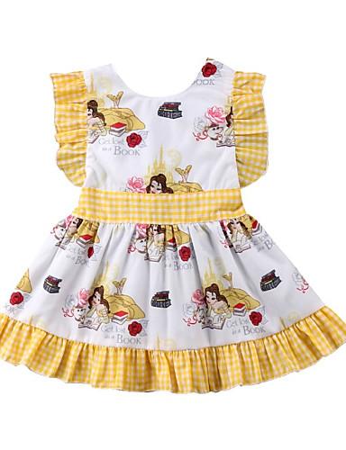 Brzdąc Dla dziewczynek Geometryczny Bez rękawów Sukienka