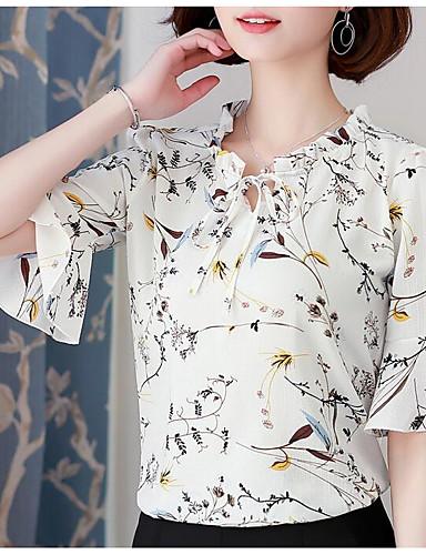 Pentru femei Bluză De Bază - Geometric