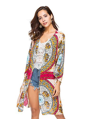 Pentru femei Bluză De Bază - Floral / Geometric
