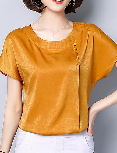 ffea1bd065 Mujer Tallas Grandes Blusa Un Color Verde Trébol XXL   Satén.  66.63. USD   16.99 (97). abordables Camisas y Camisetas para ...