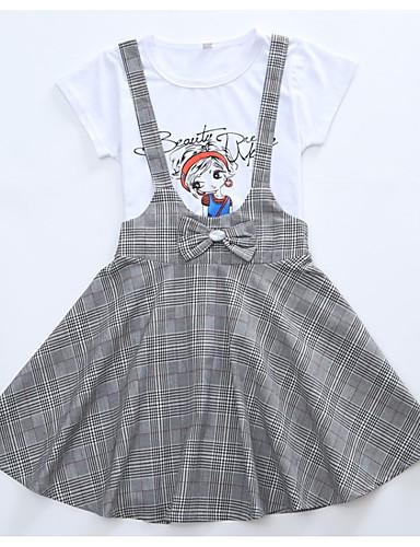 Dzieci Dla dziewczynek Pled Bez rękawów Sukienka