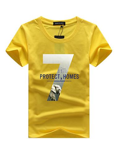 14e19a40e0 Hombre Chic de Calle Deportes Tallas Grandes Algodón Camiseta