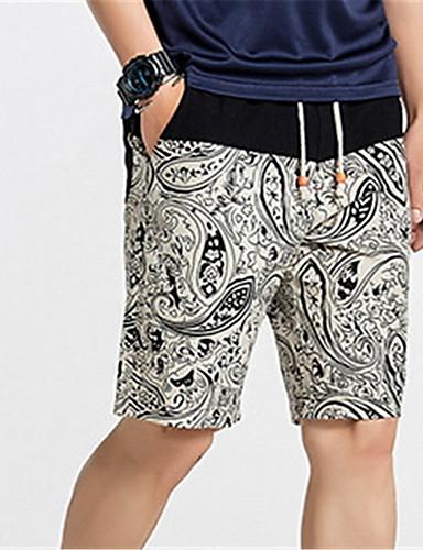 Bărbați De Bază Pantaloni Scurți Pantaloni Geometric