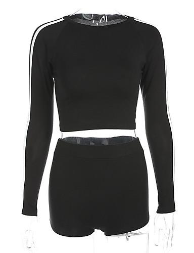 Pentru femei Sleeve Flare Vintage Set - Mată / Geometric, Pantaloni Plisată