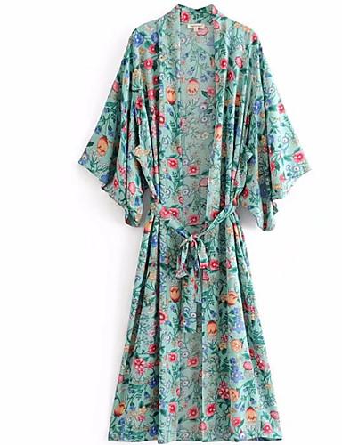 Pentru femei Tricou De Bază / Șic Stradă - Floral Cu Șiret / Imprimeu