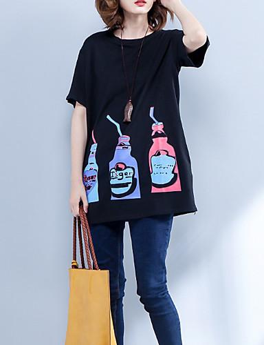 tricou pentru femei - gât rotund floral