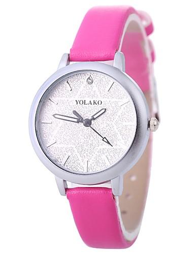 Xu™ Pentru femei Ceas de Mână Quartz Creative Ceas Casual imitație de diamant PU Bandă Analog Modă minimalist Negru / Alb / Albastru - Rosu Albastru Roz Un an Durată de Viaţă Baterie