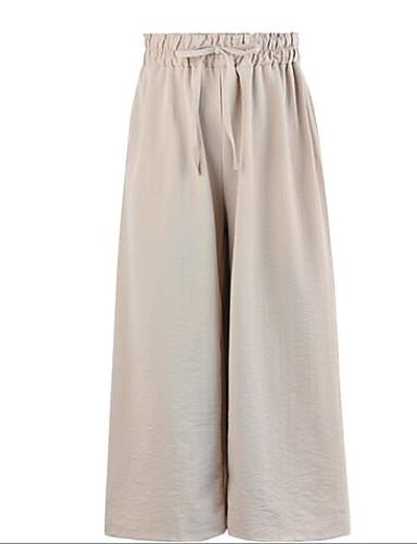 Pentru femei Activ Picior Larg Pantaloni Mată / Geometric Alb negru