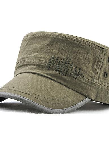 כל העונות פול שחור ירוק צבא כובע צבע אחיד כותנה פוליאסטר עבודה בסיסי בגדי ריקוד גברים