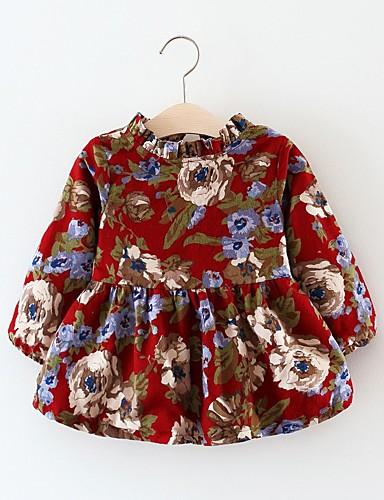 d22d7215f0f75 فستان قطن كم طويل هندسي النمط الصيني للفتيات طفل   طفل صغير