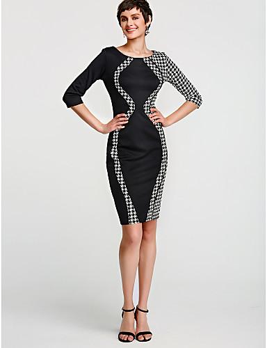 27e05c5fe54 Women s Plus Size Daily Slim Bodycon Dress - Solid Colored Summer Cotton  Black Pink Beige XL XXL XXXL