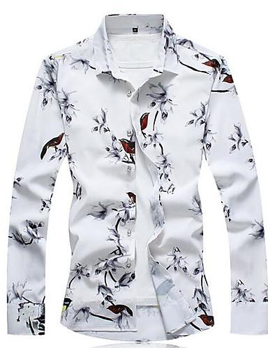 cămașă pentru bărbați - guler pentru cămașă de flori pentru animale
