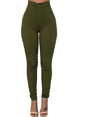 Pentru femei Subțire Blugi Pantaloni - Mată Talie Înaltă Negru