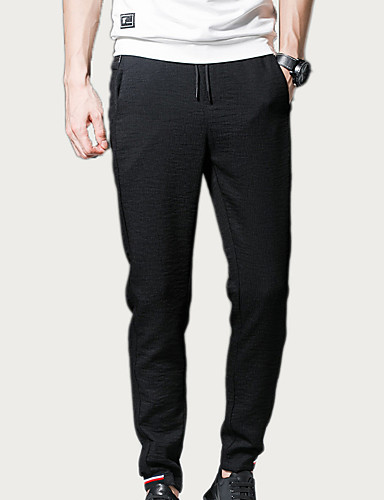 Bărbați Bumbac Zvelt Pantaloni Chinos Pantaloni Mată