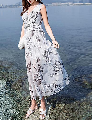 Pentru femei Plajă Larg Șifon Rochie Cu Bretele Midi