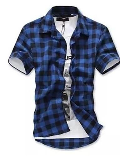 cămașă pentru bărbați - guler tricou dungat
