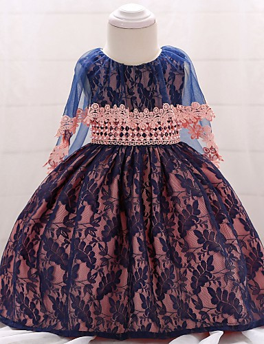 67bdf0ef9f713 فستان قطن طول الركبة بدون كم لون سادة مناسب للخارج عتيق للفتيات طفل