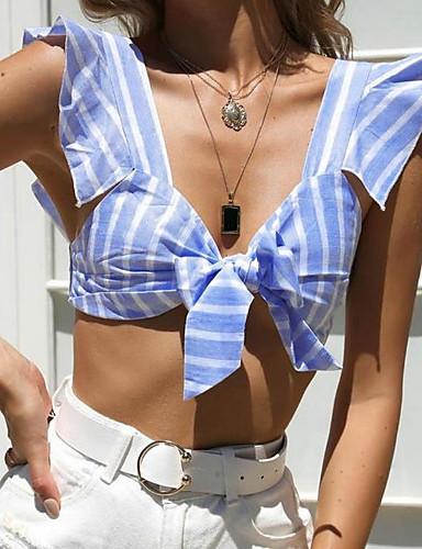 Pentru femei Cu Bretele Tricou Ieșire Dungi